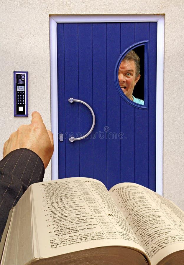 Visiteur religieux phobique image stock