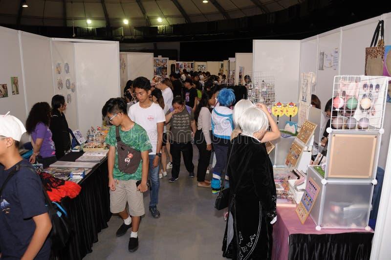 Visiteurs à Cosfest à Singapour le 20 juillet 2019 dimanche image libre de droits