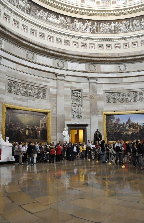 Visiteurs au capital des Etats-Unis images stock