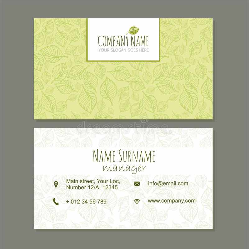 Visiting Card Business Card Template Set With Cute Hand Drawn Pa ...