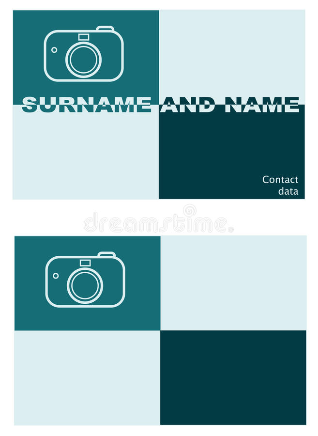 Download Visiting Card Of The Photographer Stock Illustration - Image: 11828648