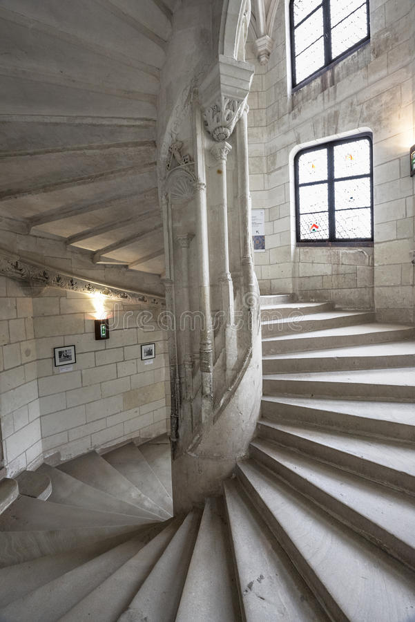 Visiting Chaumont castle royalty free stock image