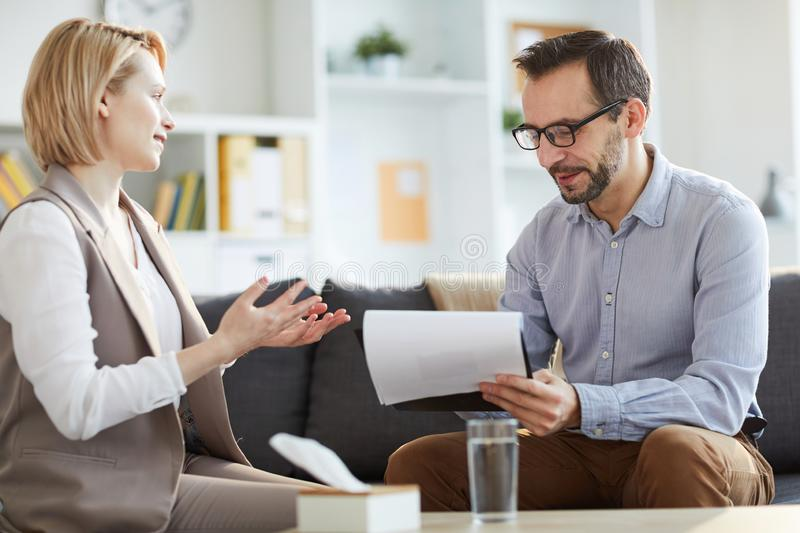 Visiting counselor stock images