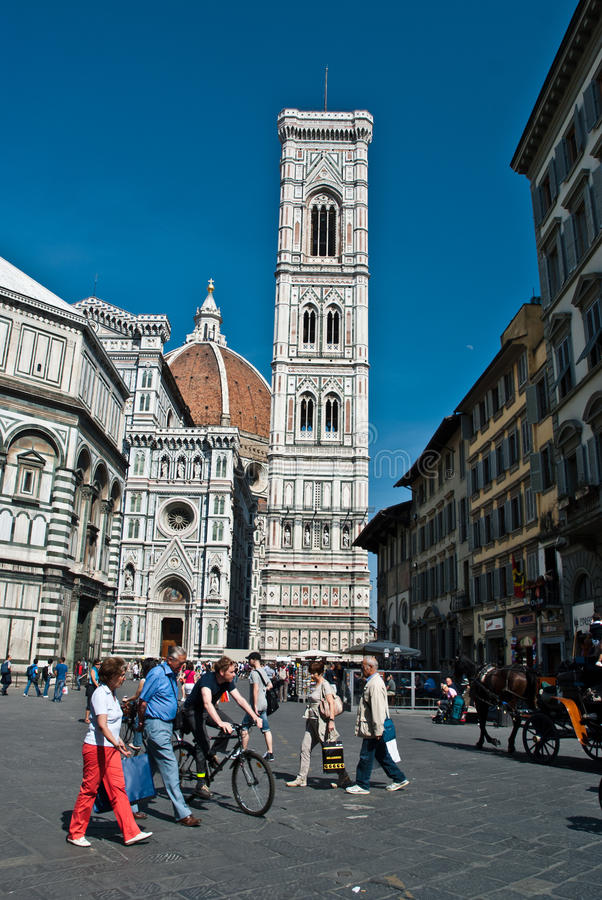 Visiting Florence royalty free stock photos