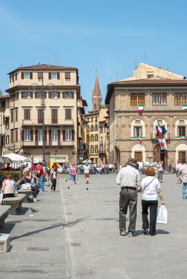 Visiting Florence royalty free stock photo