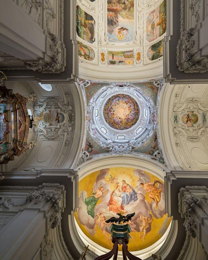Saint Catherine`s Church and Mausoleum in Graz, the capital city. Visiting Graz, the capital city of Styria, Austria stock images