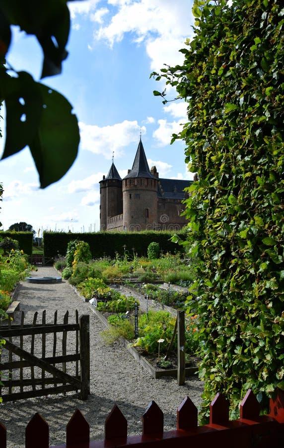 Muiderslot, Muiden Castle in the Dutch town Muiden, Holland; the Netherlands stock photo