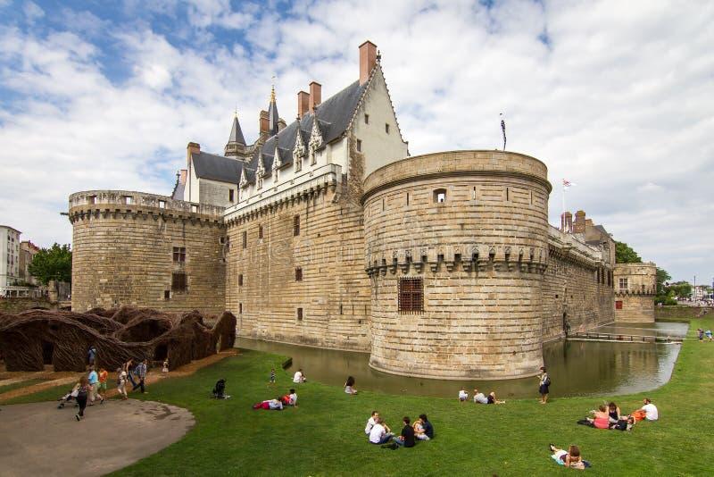 Visiting Nantes castle royalty free stock photos