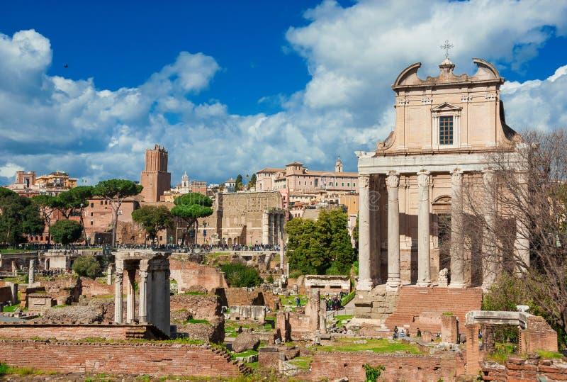 Visiting Roman Forum stock photography