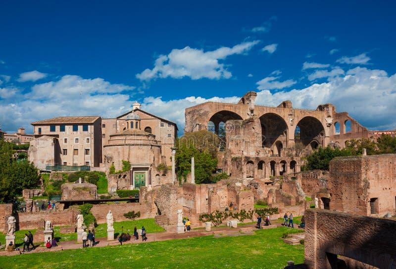 Visiting Roman Forum stock photos