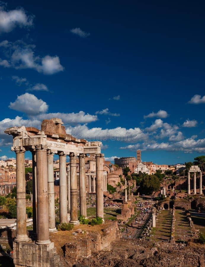 Visiting Roman Forum royalty free stock photos