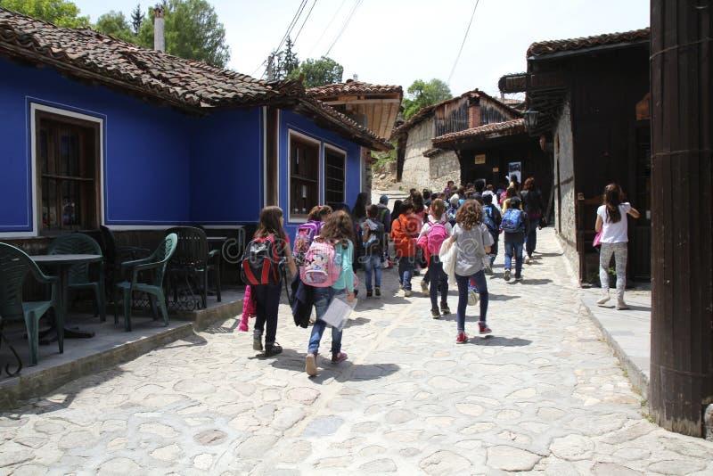 Visiting traditional village royalty free stock photo