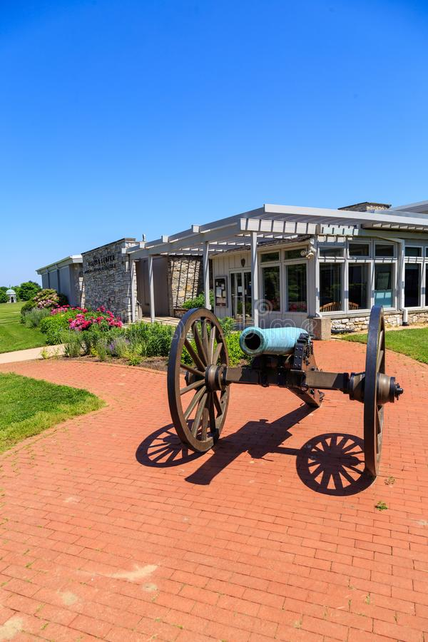 Visitor Center at the Antietam National Battlefield. Sharpsburg, MD, USA - May 23, 2018: The National Park Service Antietam National Battlefield Visitor Center royalty free stock images