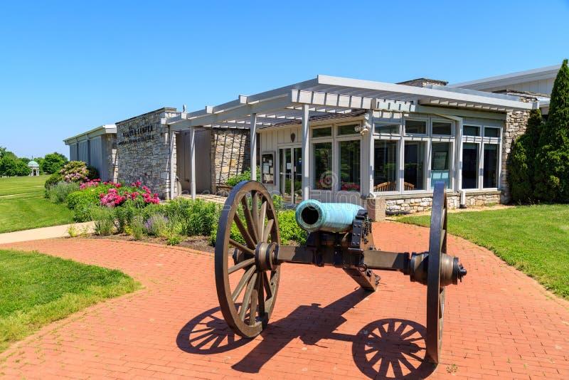 Visitor Center at Antietam National Battlefield. Sharpsburg, MD, USA - May 23, 2018: The National Park Service Antietam National Battlefield Visitor Center is stock image