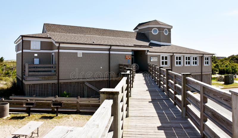 Visitor center on the Fort Fisher State Recreation Area. Kure Beach, NC stock photography
