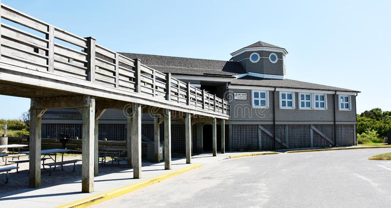 Visitor center on the Fort Fisher State Recreation Area. Kure Beach, NC stock photos