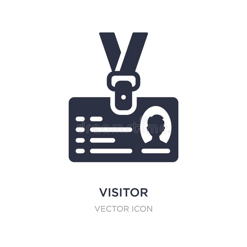 visitor icon on white background. Simple element illustration from Blogger and influencer concept vector illustration