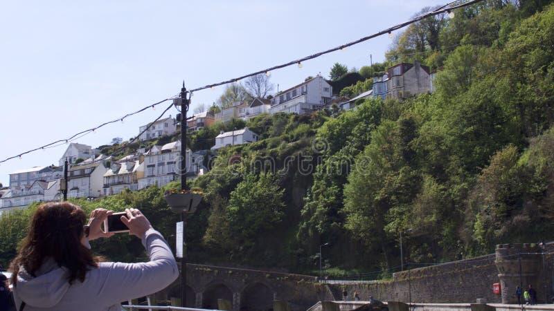 Looe, Cornwall, UK, May 06, 2019. Seaside town in spring stock photos