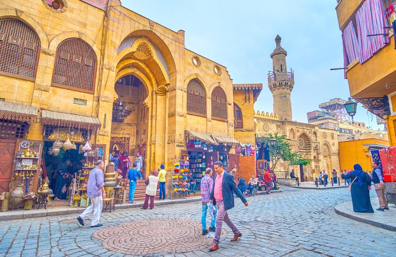 The Visitors Center building in Cairo, Egypt royalty free stock photos