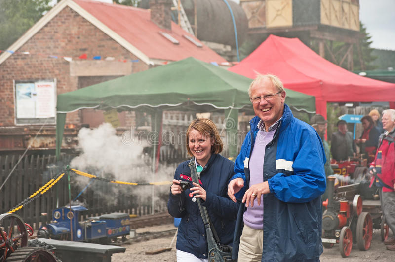 Download Visitors Enjoying Traction Rally Editorial Photo - Image of antique, laughing: 25747141
