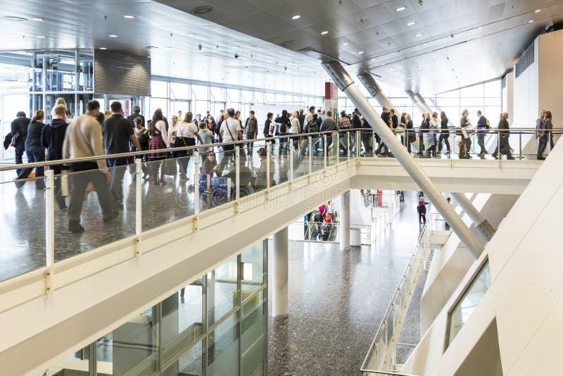 Visitors at the Frankfurt Book Fair 2014 stock photos