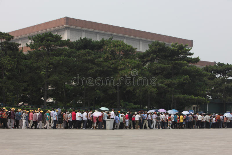 Download Visitors Line Up To Visit Tiananmen Square Editorial Stock Image - Image: 21567684