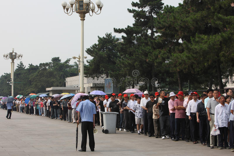 Download Visitors Line Up To Visit Tiananmen Square Editorial Photography - Image: 21567702