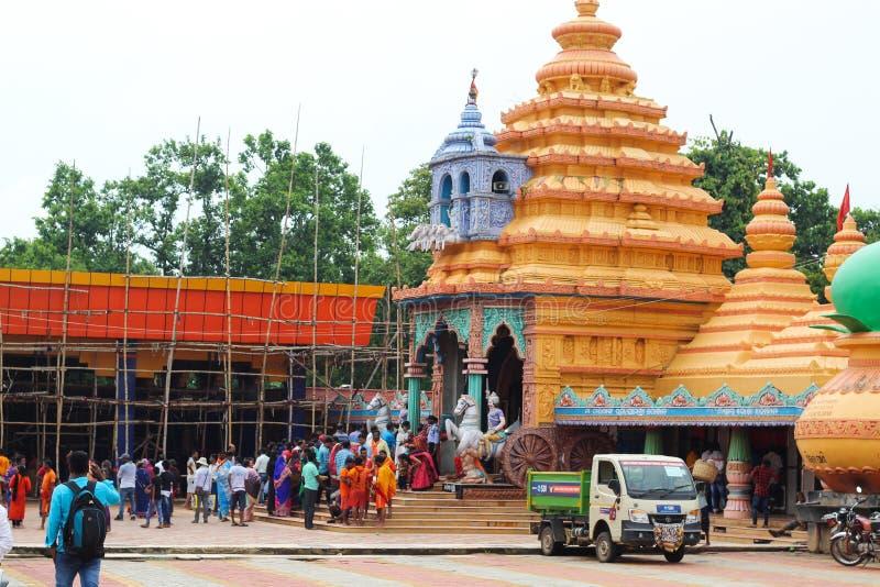 Visitors at Maa tarini temple Ghatagaon keonjhar odisha. Visitors at Maa tarini temple Keonjhar Odisha India 12-08-2019 royalty free stock photos