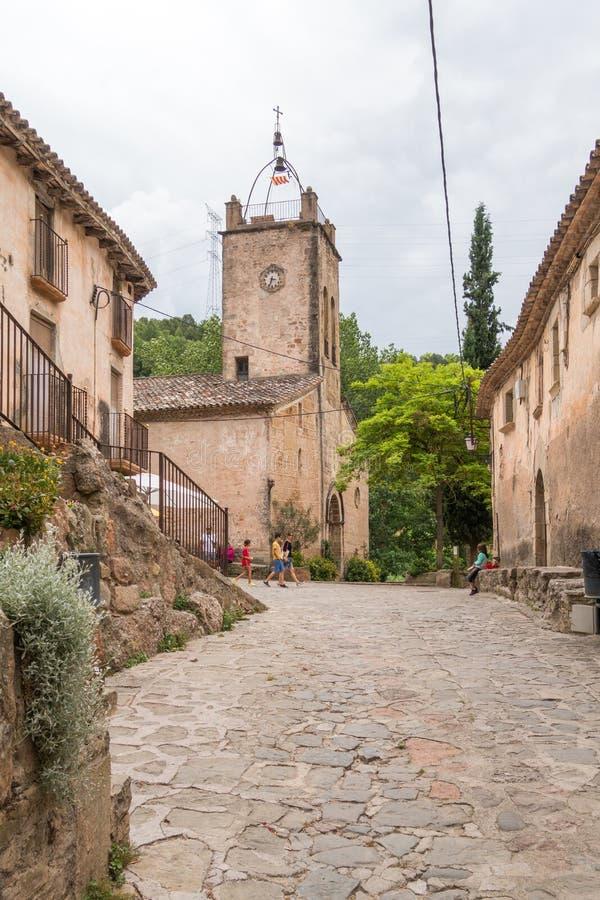 Visitors in Mura. Photograph of visitors in Mura, Barcelona, Spain stock images