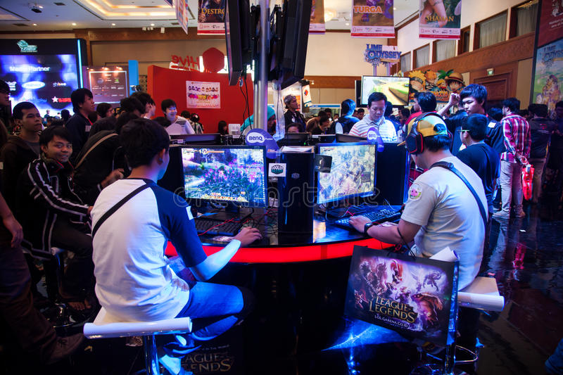 Download Visitors Playing Video Games At Indo Game Show 2013 Editorial Stock Photo - Image: 33491638