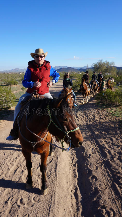 Visitors ride on the hourse ba stock images