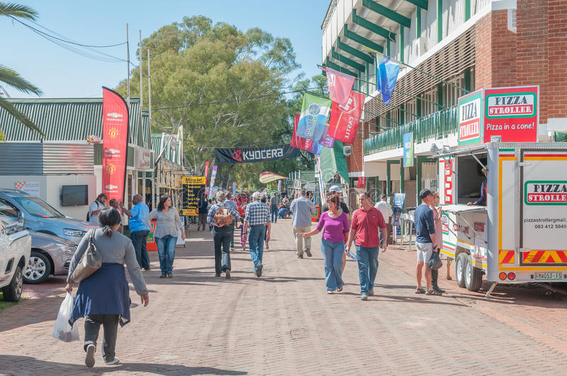 Visitors in a street scene at the Bloem Show royalty free stock images