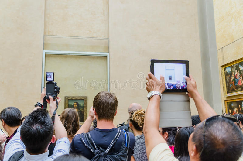Visitors taking pictures stock image