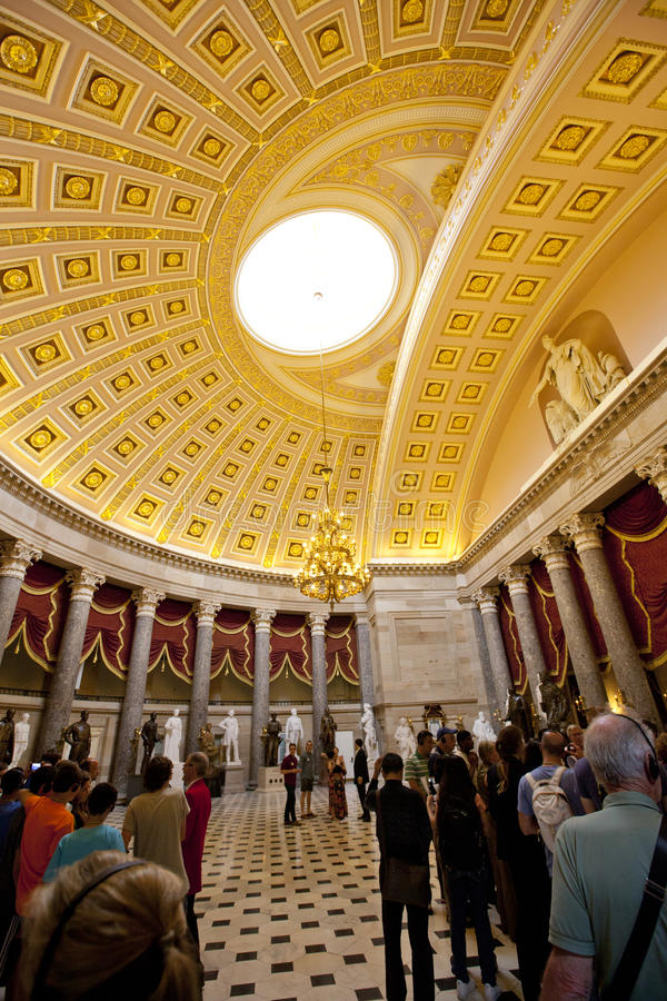 Visitors taking tours at the US Capitol Building. royalty free stock image