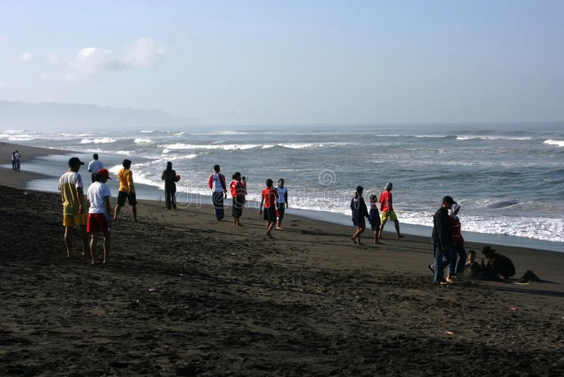 Download Visitors Traveled In Depok Beach Editorial Photography - Image: 35610682