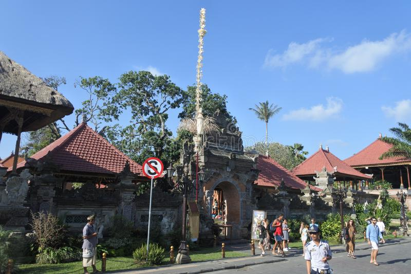 Visitors at Ubud Palace in Bali Indonesia royalty free stock images