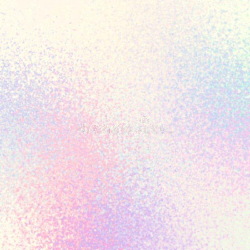 Vislumbrar a textura abstrata branca azul cor-de-rosa pastel brilhante Fundo fresco ilustração do vetor