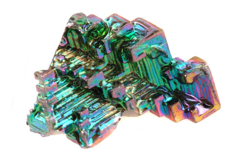 Vismut - regnbågemetall arkivfoto