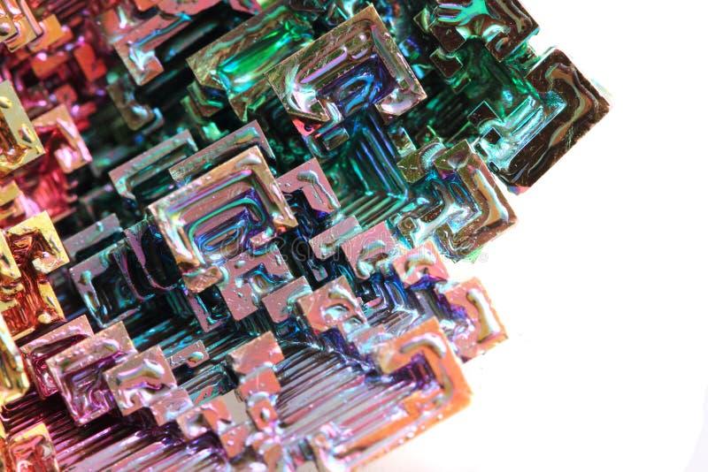 Vismut - regnbågemetall arkivfoton