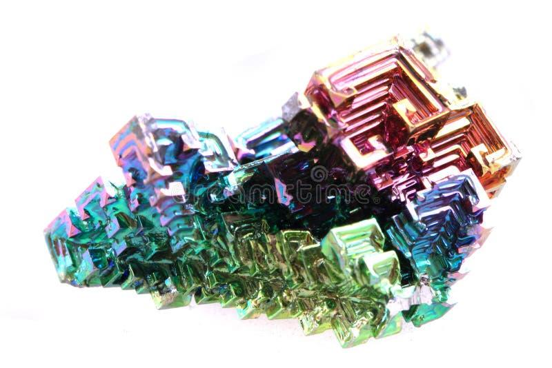 Vismut - regnbågemetall royaltyfria foton