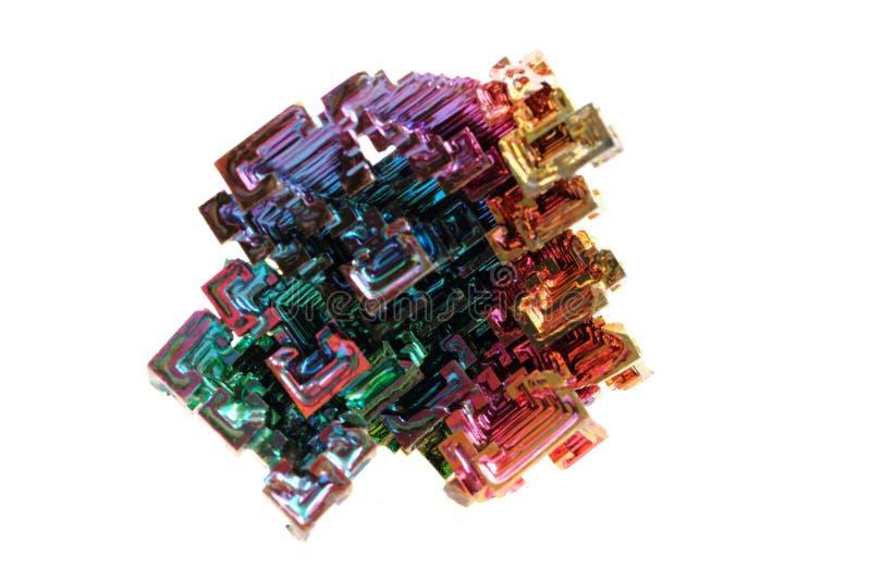 Vismut - regnbågemetall royaltyfri bild