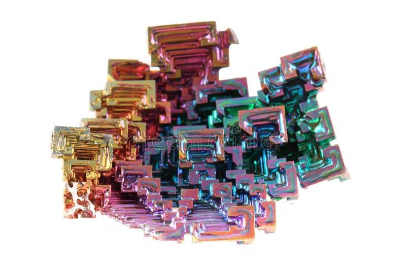 Vismut - regnbågemetallmineral royaltyfri bild
