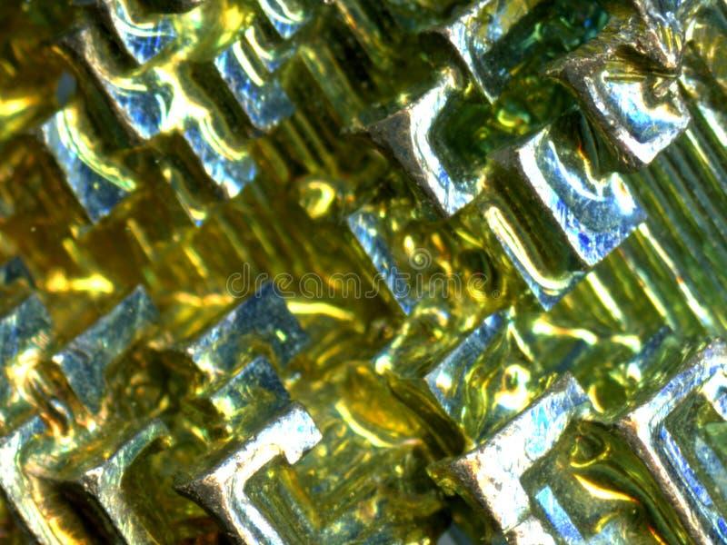 vismutkristall arkivfoton