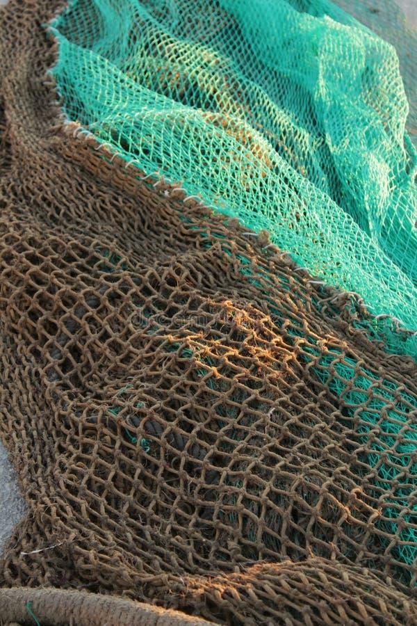 Visnetten in het dok van Santa Pola, Spanje royalty-vrije stock fotografie