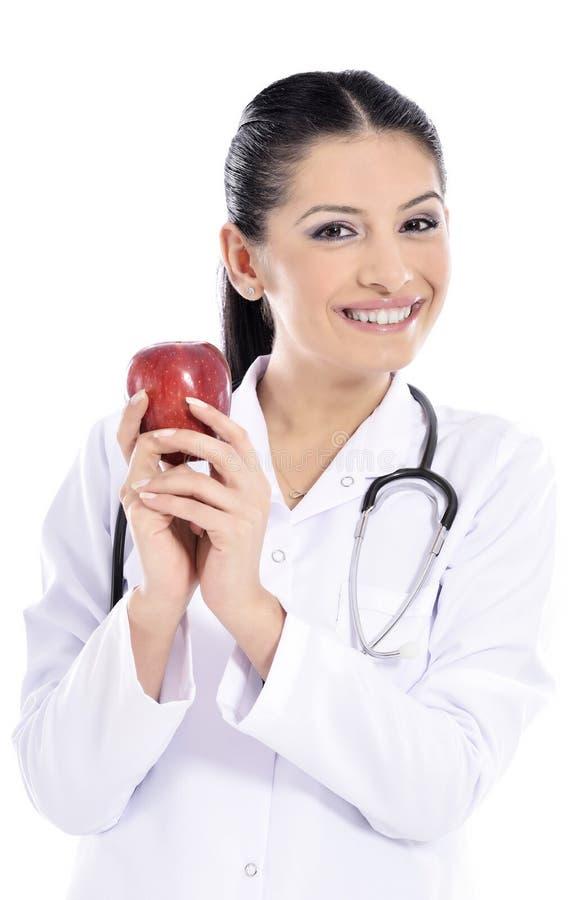 Visningäpple för medicinsk doktor royaltyfria foton