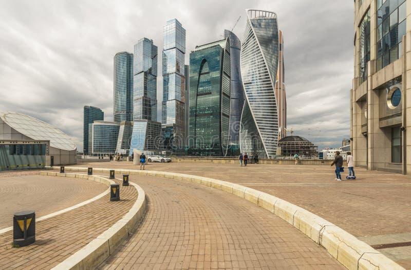 Visningplattform mitt emot Moskvastad fotografering för bildbyråer
