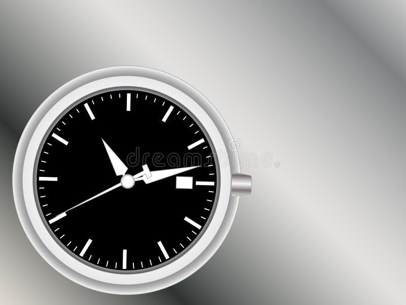 Viso e mani di orologio Analog illustrazione vettoriale