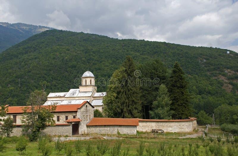 Visoki serbisk ortodox kloster, Decani, Kosovo royaltyfria foton