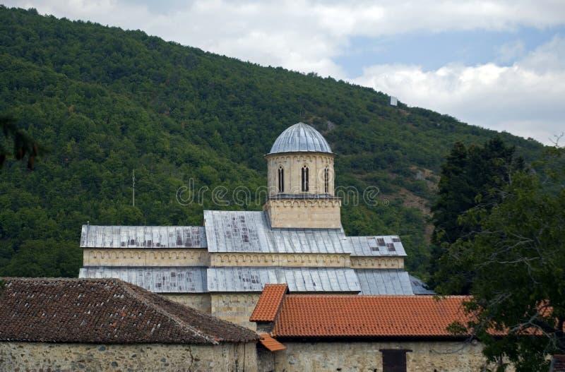 Visoki serbisk ortodox kloster, Decani, Kosovo royaltyfri fotografi