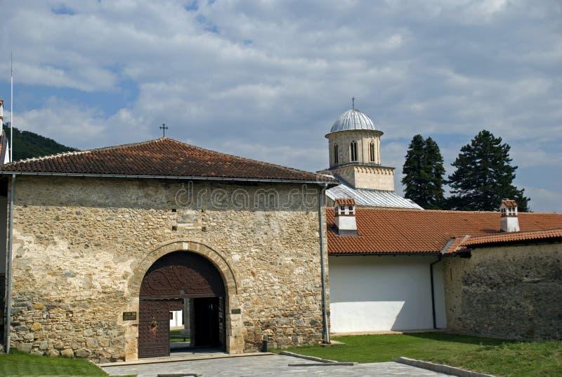 Visoki serbisk ortodox kloster, Decani, Kosovo arkivbilder